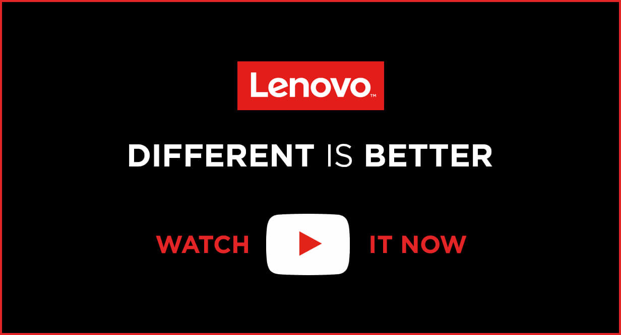 Lenovo different is better
