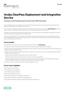 Aruba ClearPass Deployment and Integration Service