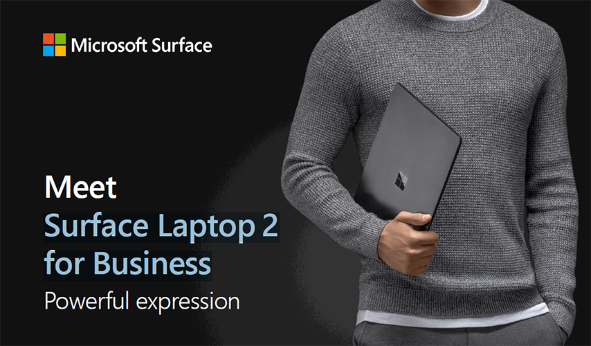 Fact Sheet: Surface Laptop 2 for Business