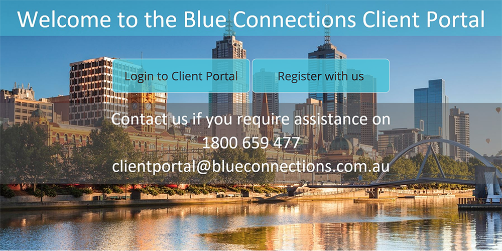 Blue Connections Client Portal
