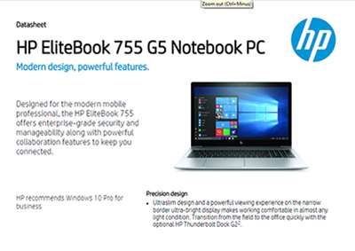 EliteBook 755 G5 Notebook PC
