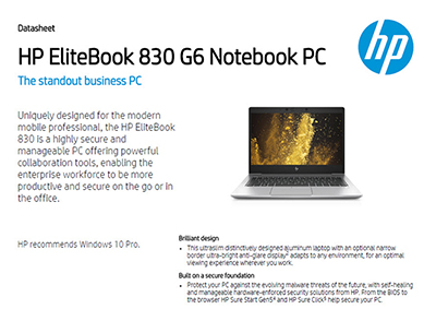 EliteBook 830 G6 Notebook PC