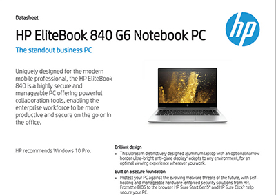 EliteBook 840 G6 Notebook PC