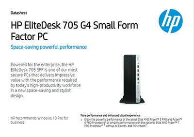 EliteDesk 705 G4 Small Form Factor PC