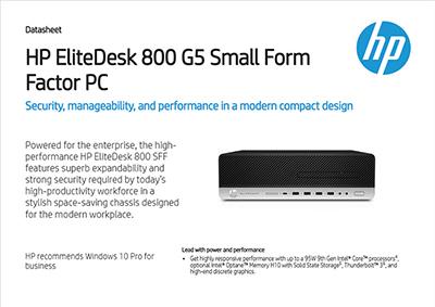 EliteDesk 800 G5 Small Form Factor PC