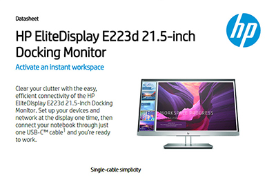 EliteDisplay E223d 21.5-inch Docking Monitor