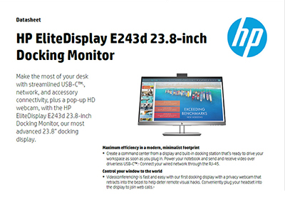 EliteDisplay E243d 23.8-inch Docking Monitor