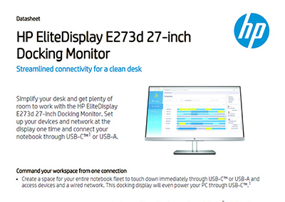 EliteDisplay E273d 27-inch Docking Monitor
