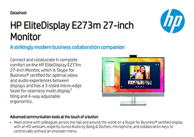 EliteDisplay E273m 27-inch Monitor