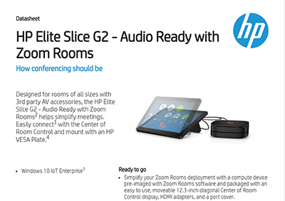 Elite Slice G2 - Audio Ready with Zoom Rooms