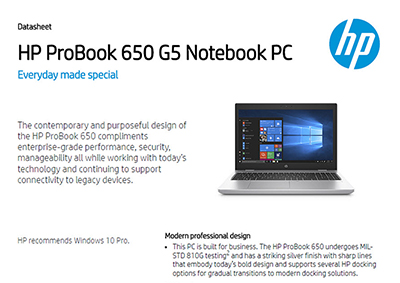 ProBook 650 G5 Notebook PC