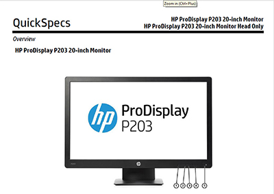 ProDisplay P203 20-inch Monitor