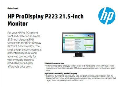 ProDisplay P223 21.5-inch Monitor
