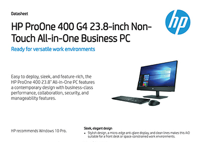 ProOne 400 G4 23.8-inch Non-Touch All-in-One Business PC