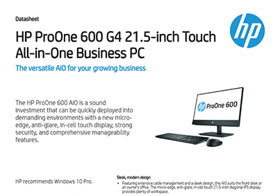ProOne 600 G4 21.5-inch Touch All-in-One Business PC