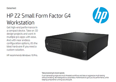 Z2 Small Form Factor G4 Workstation