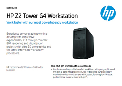 Z2 Tower G4 Workstation