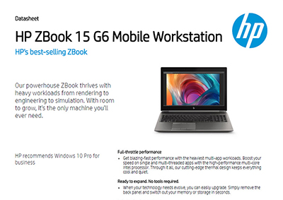 ZBook 15 G6 Mobile Workstation