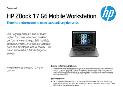 ZBook 17 G6 Mobile Workstation