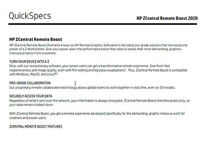 ZCentral Remote Boost 2020 Quick Specs