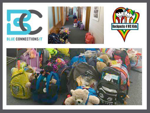 Blue Connections IT Backpacks 4 VIC Kids