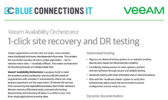 Product Overview: Veeam Availability Orchestrator