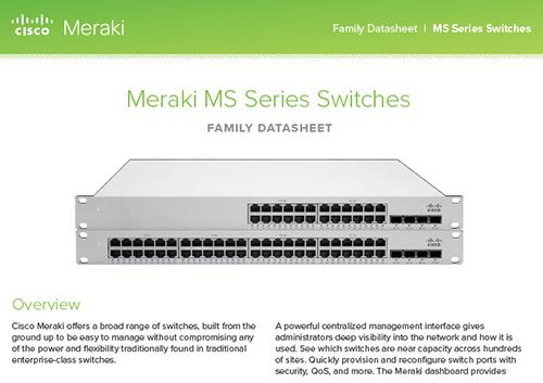 Datasheet: Cisco Meraki MS Switches