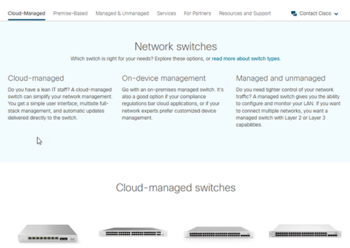 Cisco Business Switching