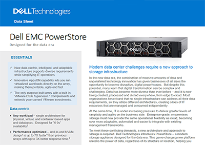 Data Sheet: Dell EMC PowerStore