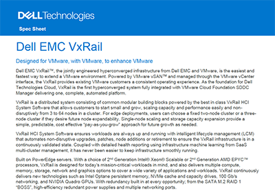 Spec Sheet: Dell EMC VxRail