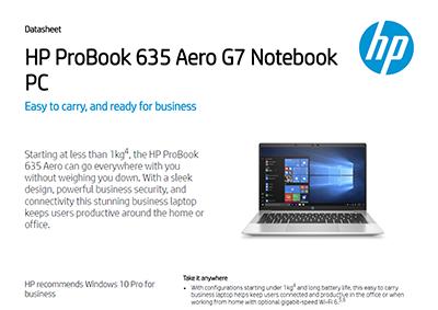 HP ProBook 635 Aero G7 Notebook