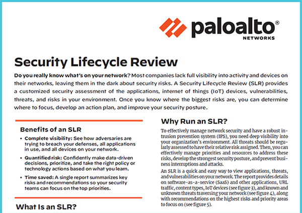 Solution Brief: Security Lifecycle Review